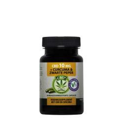 CBD Curcuma Black Pepper 30 capsules 10 mg - Jacob Hooy