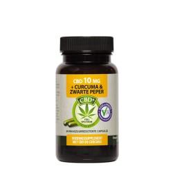 CBD Curcuma Black Pepper 60 capsules 10 mg - Jacob Hooy